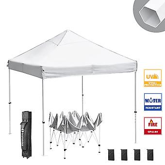 Instahibit10x10 ft Pop Up Canopy Tent CPAI-84 Commercial Trade Fair Ez up Canopy Shade Party Tent 1680D Roller Bag