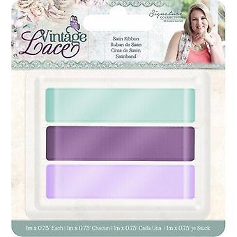 Sara Signature Vintage Lace Satin Ribbon (3pk) (S-VL-RIB-SAT)
