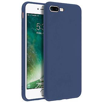 Forcell case for iPhone 7 Plus, 8 Plus, soft touch cover, silicone case – Blue