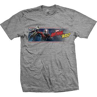 Marvel Comics Ant Man & The Wasp Banner camiseta oficial gris unisex