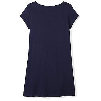 Spotted Zebra Little Girls' Knit Short-Sleeve A-Line T-Shirt Dresses, Star, X...