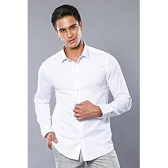 Stretch cotton white dress shirt | wessi