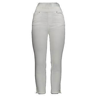Martha Stewart Femmes's Petit Pantalon Denim W/Side Zipper Détail Blanc A370627