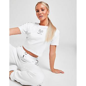 Nieuwe Pink Soda Sport Women's Tape T-Shirt Wit
