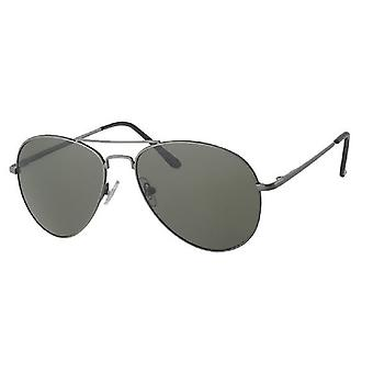 Sunglasses Men's Kat. 3 silver with green lens
