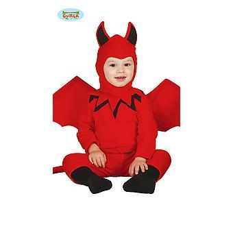 Baby Devil kostym med vingar Halloween skräck djävul