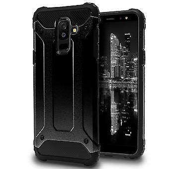 Mobile Protection for Samsung Galaxy A6+ (2018) | Hard Hybrid Shell in Black