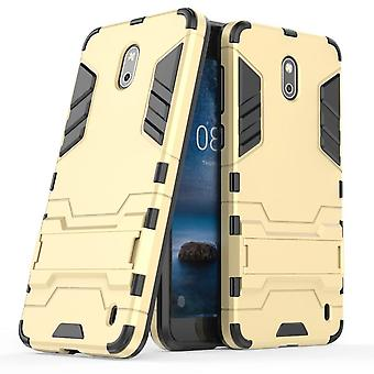 Shell for Nokia 2 Space Armor Gold Hard Protection Case Kickstand