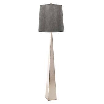 1 Lampe de plancher légère Nickel poli, E27