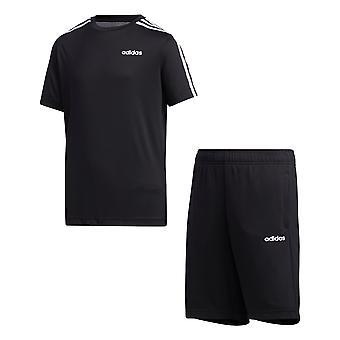 adidas 3-Listras Youth Kids T-Shirt & Short Summer Set Black