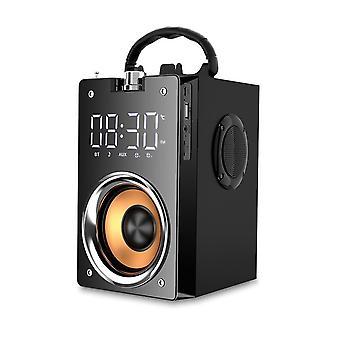 بلوتوث المتكلم المحمولة عالية الطاقة اللاسلكية ستيريو مضخم الصوت الثقيلة باس مكبرات الصوت كبيرة الحجم الصوت في الهواء الطلق (أسود)