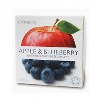 Clearspring - Fruit Puree Apple & Blueberry 2 X 100g