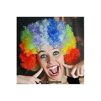 Wigs  Curly hair wig clown multicolor