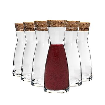 Bormioli Rocco Ypsilon Water Carafe Decanter Jug with Cork Lid - 1080ml - Pack of 6