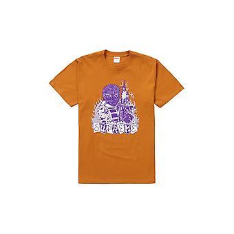 Supreme huurling Tee verbrand oranje-kleding
