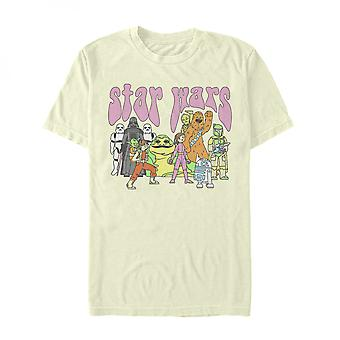 Star Wars Retro Comic Characters Lineup T-Shirt