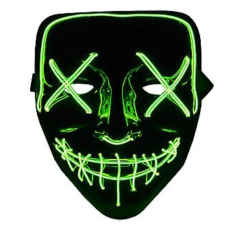 The Purge LED Neon Mask, Halloween - Green