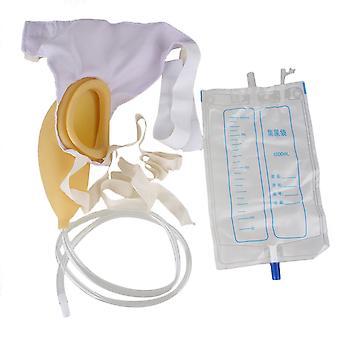 Coletor de saco de urina urinário wearable 1000ml para uso fácil masculino