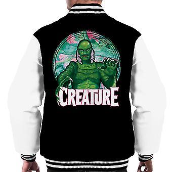 Criatura da Lagoa Negra Mix Circle Men's Varsity Jacket