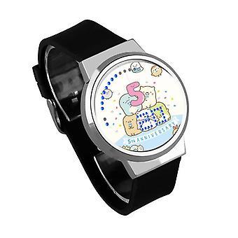 Водонепроницаемые светящиеся светодиодные цифровые сенсорные детские часы - Sumikkogurashi #24