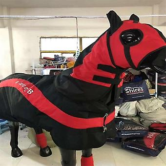 Detachable Windproof Horse-clothes, Rug With Head Cover And Leggings