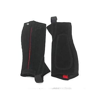 Horse Riding Chaps Half Suede Leather Equestrian Body Protector Équipement