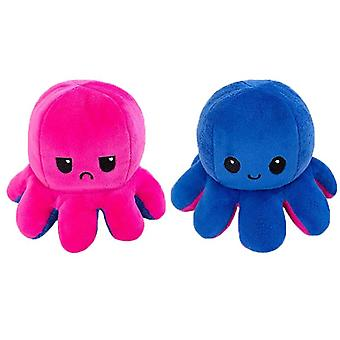 Reversible Flip, Cuttlefish Stuffed Plush, Angry, Happy, Emotion Soft Cute,