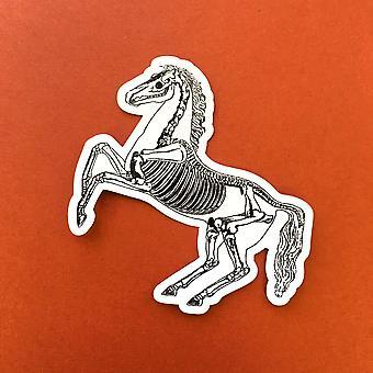 Vintage Skelett Pferd Vinyl Aufkleber