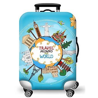 Elastic Printed Luggage Cover World Tour