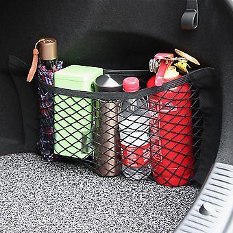 bil tilbake bakre bagasjerommet sete, elastisk streng nett, magisk klistremerke mesh oppbevaringspose