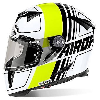 Airoh GP500 Full Face Motorradhelm schwarz weiß grün ACU Zugelassen