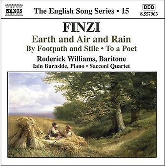 G. Finzi - Finzi: Earth and Air and Rain; by Footpath and Stile; to a Poet [CD] USA import