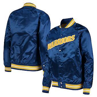 Mitchell & Ness Golden State Warriors Lightweight Satin Bomber Jacket GSWROYA1