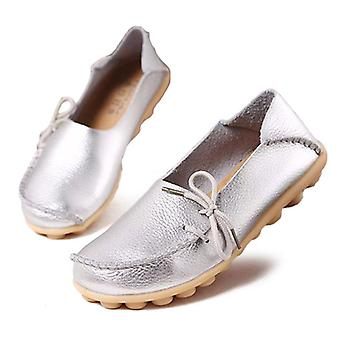 Fashion Oxford Leather Soft Walking Women Shoe
