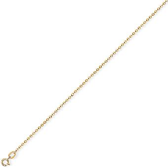Jewelco London 9ct gult gull-fine Trace anheng Chain halskjede-1,2 mm gauge