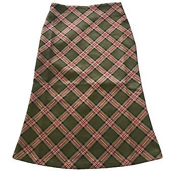 Plaid alta cintura sirena faldas mujeres Streetwear algodón faldas largas
