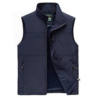 Sleeveless Vest, Men Summer Breathable Waistcoat, Multi Pockets Jacket, Outdoor