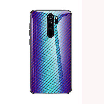 Upea iskunkestävä karkaistu lasikotelo Xiaomi Mi 9SE: lle - sininen