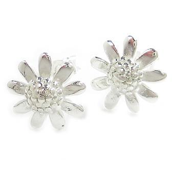 Flower Sterling Silver Stud Oorbellen .925 X 1 Paar Bloemen Studs