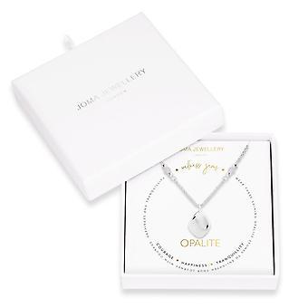 ジョマジュエリーウェルネス宝石シルバーオパライト45cm + 5cmエクステンダーネックレス4228