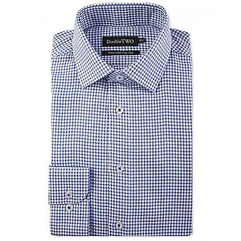 Double TWO Dogtooth Check Long Sleeve Shirt