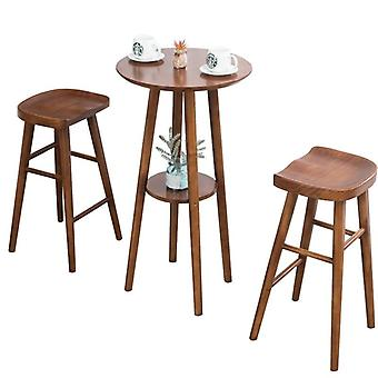 Tabourets de barre en bois massif Creative Wood Bar Chair Leisure Bar Chair Fashion High