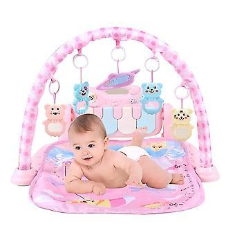 Spädbarn baby hängande tecknad film djur rattles piano musik spela matta