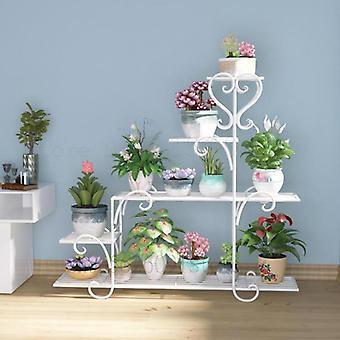 Flower Shelf Indoor Balcony Flower Stand Iron Hanging Orchid Rack Living Room