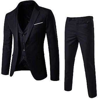 Mænd 's Wear 3-delt Bryllup Bedste Formelle Business Suit