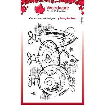 Woodware Clear Singles Kolme baublea 4 x 6 postimerkissä