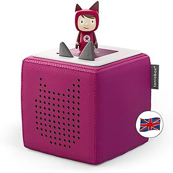 DZK Toniebox Starter Set incl 1 Creative Character, Audio and Music Player Speaker for Audiobooks