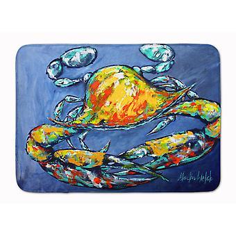 Caroline's Treasures Blue Gray Kinda Day Crab Machine Lavabile Memoria Schiuma Mat zerbini