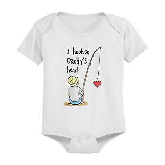 I Hooked Daddy's Heart Baby Bodysuit
