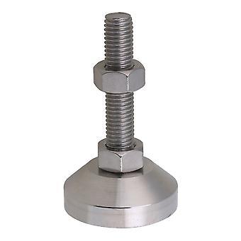 5cm Dia roestvrij staal M12 schroefdraad stengel meubel tafel voeten glijdt